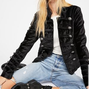 Millau velvet military style jacket